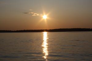 sunset on the st