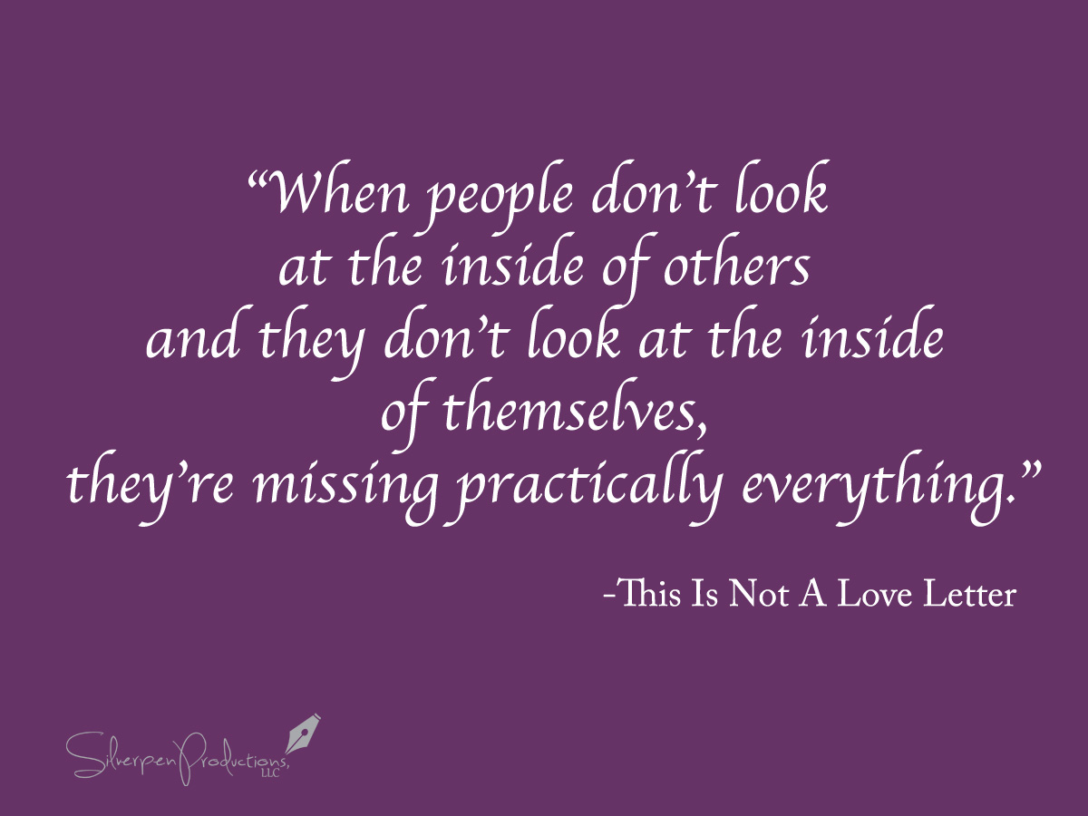 Book Corner: This Is Not A Love Letter | Silverpen Productions